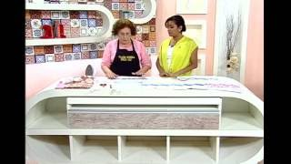 Artesanato – Toalha de mão com régua barrado