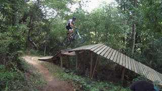 Riding Trek's private trails at their headquarters in Waterloo, WI