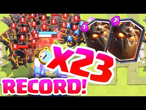 Clash Royale  ♦ MASS Lava Hounds - 23 Lava Hound World Record! ♦
