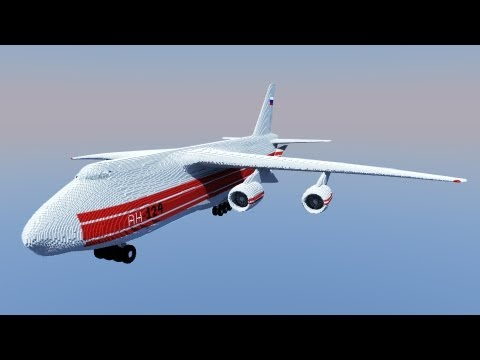 Huge 3D Antonov AN 124 In Minecraft
