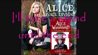 Alice (Underground) Avril lavigne - lyrics