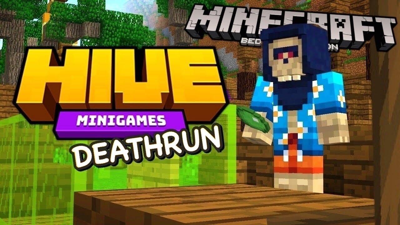 MINECRAFT DEATH RUN CHALLENGE THE HIVE MINIGAMES MINECRAFT PS4