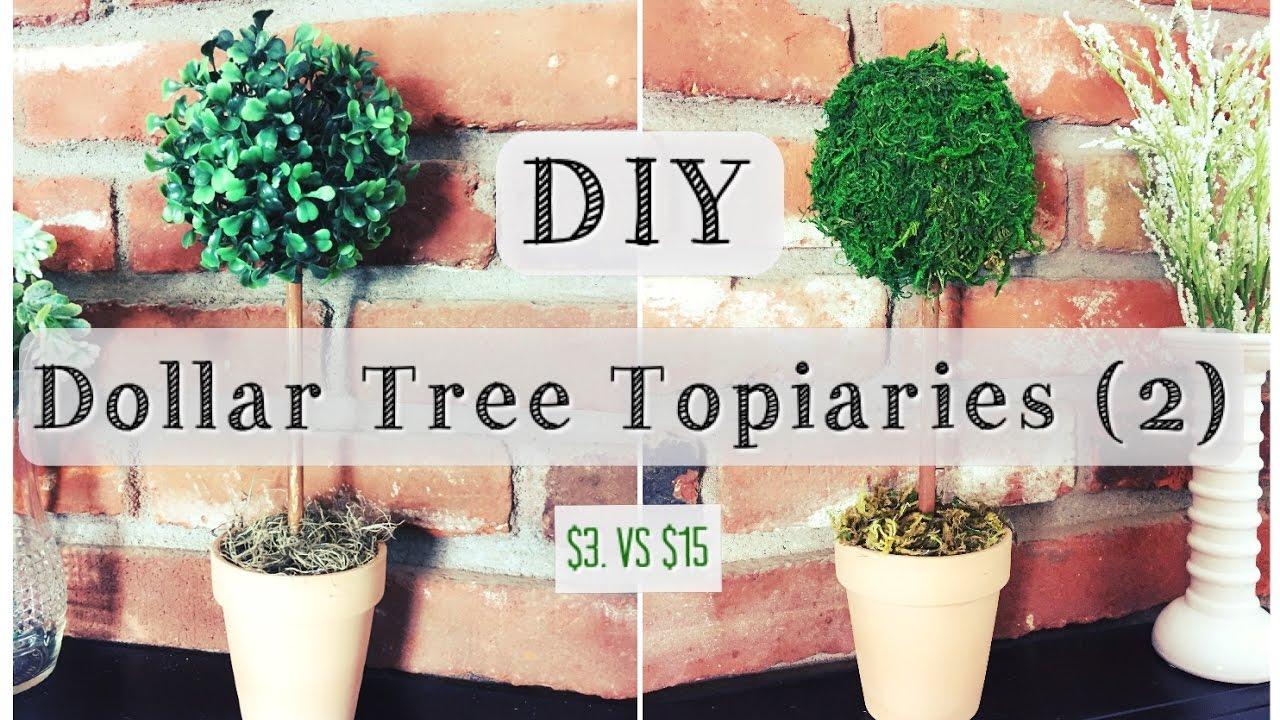 Diy Topiary Dollar Tree Room Decor For 3 Youtube