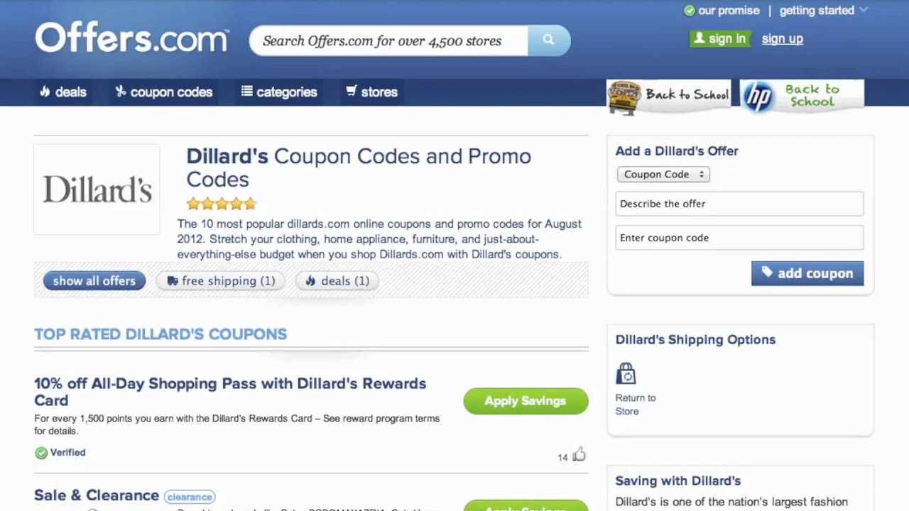 Dillards coupon code 2018