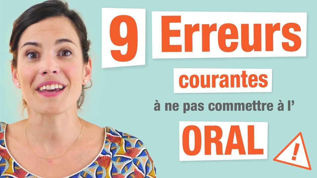 9 Erreurs Courantes à l'Oral en Français