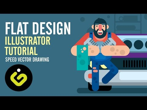Flat Design, Illustrator Tutorial thumbnail
