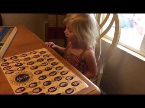Classical Conversations Presidents song from a 3 year old