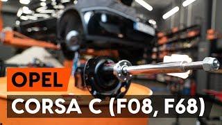 Kā nomainīt Amortizators CORSA C (F08, F68) - soli-pa-solim video pamācības