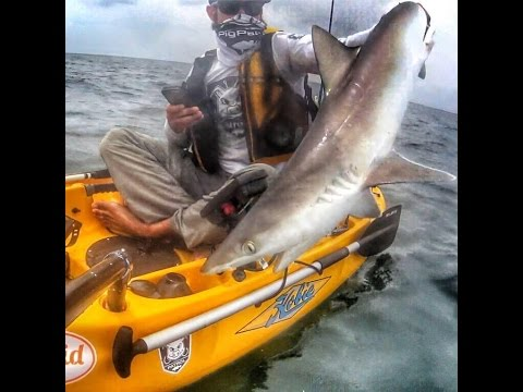 Kayak Fishing Offshore; Crazy Shark Attack  |   Shark Week 2016   George Saber