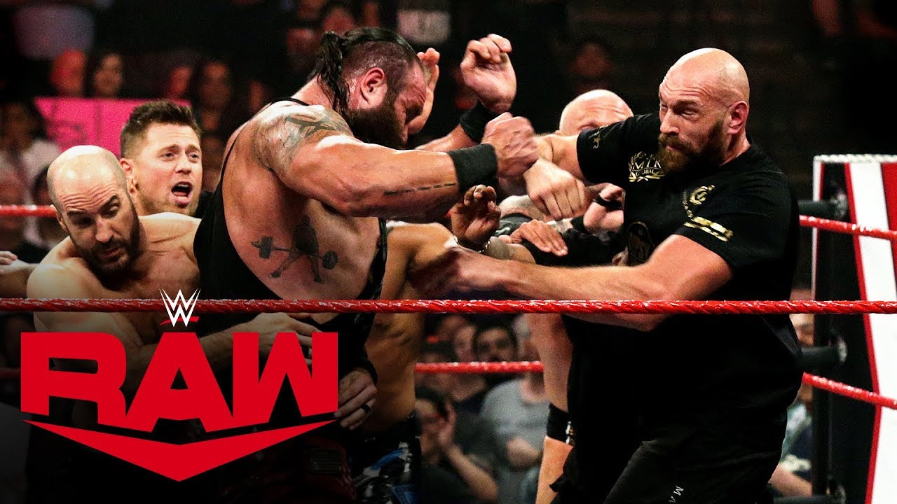 Braun Strowman and boxing champion Tyson Fury in huge brawl: Raw, Oct. 7, 2019 image