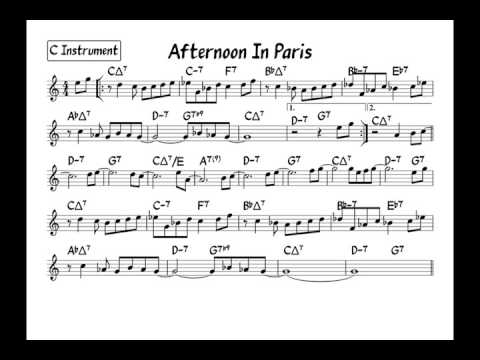 Afternoon in paris - Play along - C version