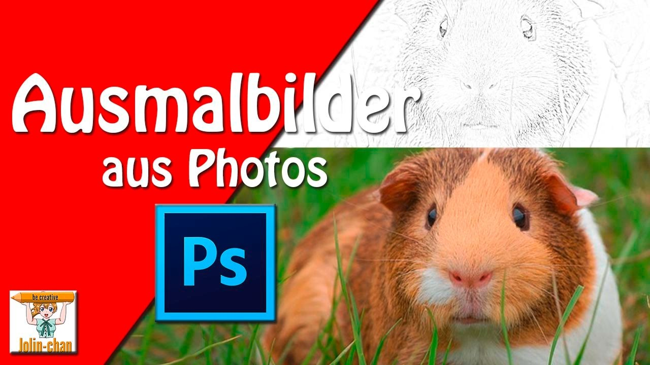 Ausmalbilder In Photoshop Erstellen Youtube