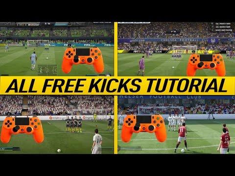 FIFA 17 FREE KICK TUTORIAL - ALL FREE KICKS (NEW, HIDDEN, SECRET, OLD) - HOW TO SCORE GOALS