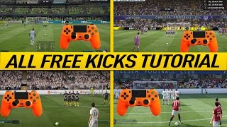 FIFA 17 FREE KICK TUTORIAL - ALL FREE KICKS (NEW, HIDDEN, SECRET, OLD) - HOW TO SCORE GOALS