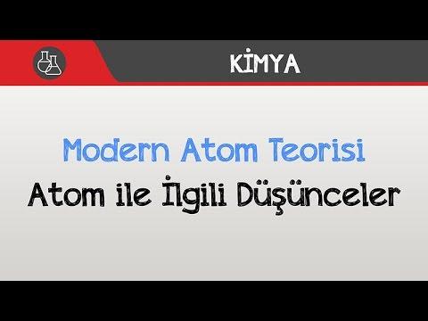 Modern Atom Teorisi - Atom ile İlgili Düşünceler