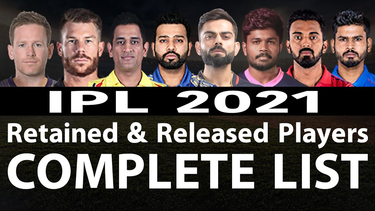 Download IPL 2021: Complete List Of Retained & Released Players | MI | RCB | CSK | DC | SRH | KKR | RR | KXIP