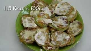 Вкусно и просто: Кабачки жареные в кляре с майонезом и чесноком.