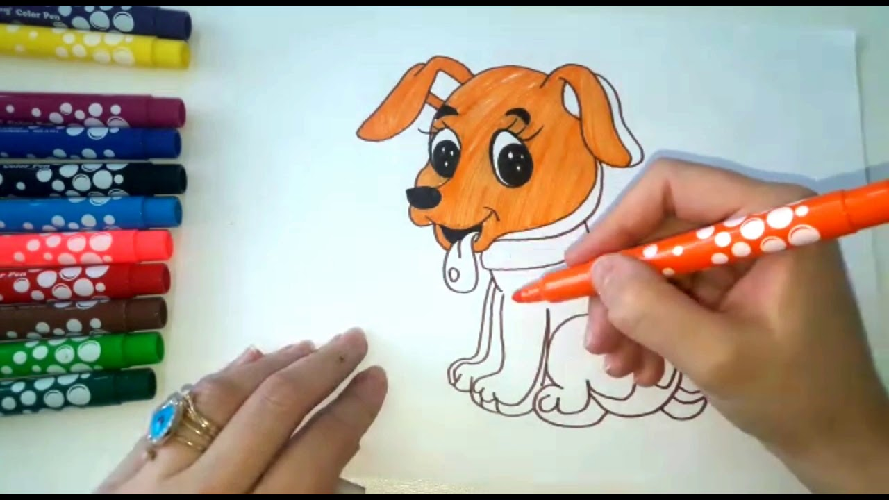 How to draw a dog for kids - YouTube