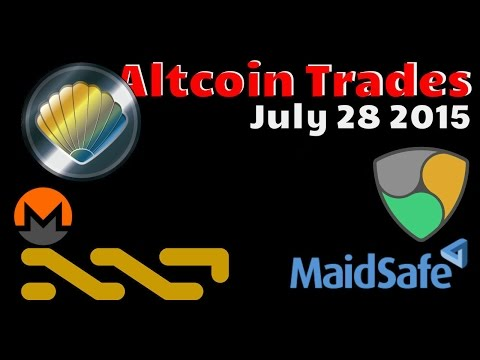 Best Cryptocurrency Altcoins By Trade Volume - July 28 2015