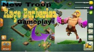 New Troop || RAGE BARBARIAN || clash Of Clans New Update || Versus Battle Gameplay ||