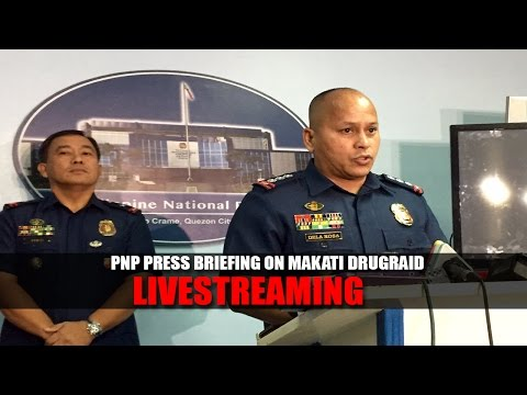 Press briefing of PNP about the  drug raid in Makati City LIVE