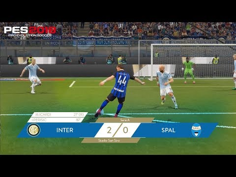 Inter-Spal 2-0 | Mauro Icardi and Ivan Perisic | PES 2018 🎮⚫️🔵