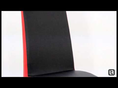 Turin Dining Chair Black Red
