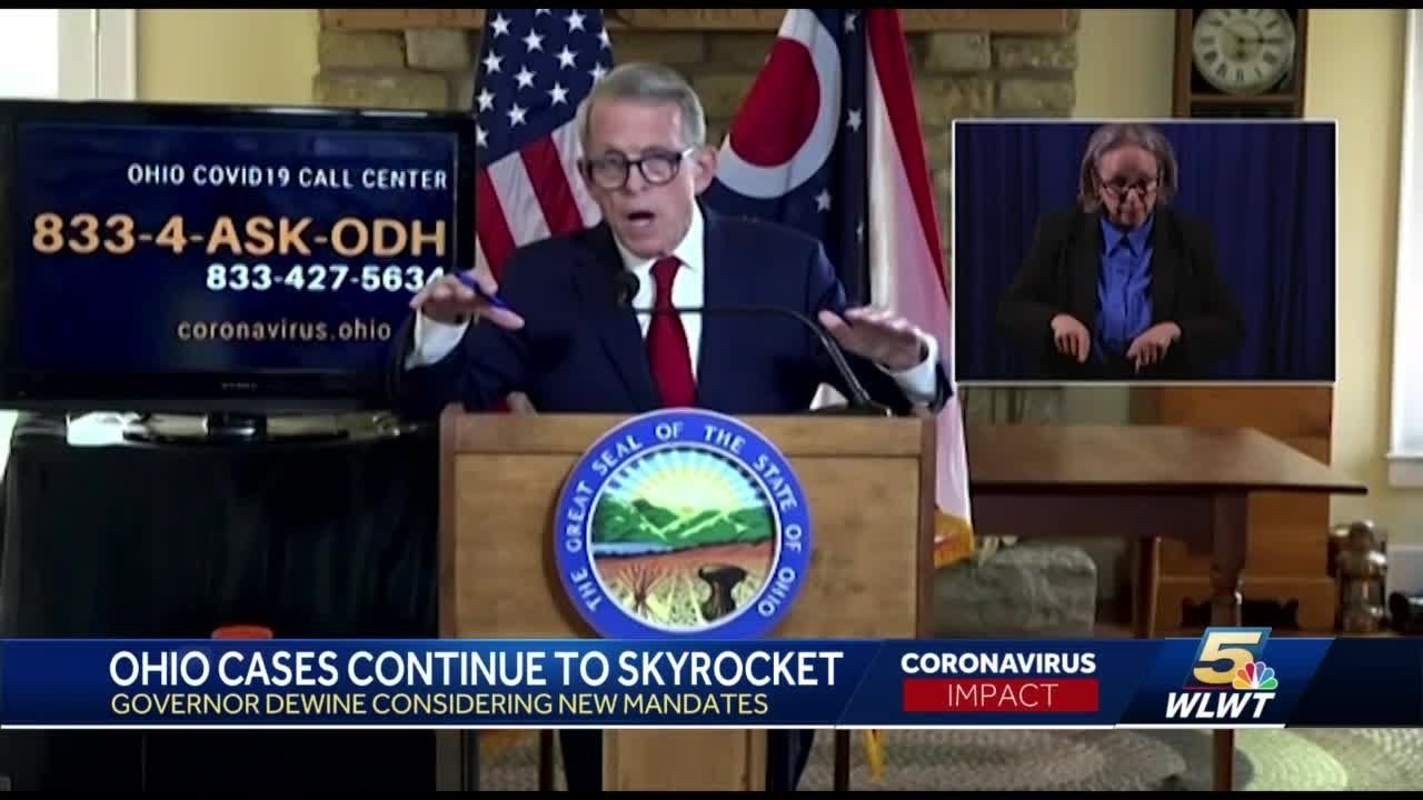 Gov Dewine Considering New Mandates As Covid 19 Cases In Ohio Skyrocket Youtube