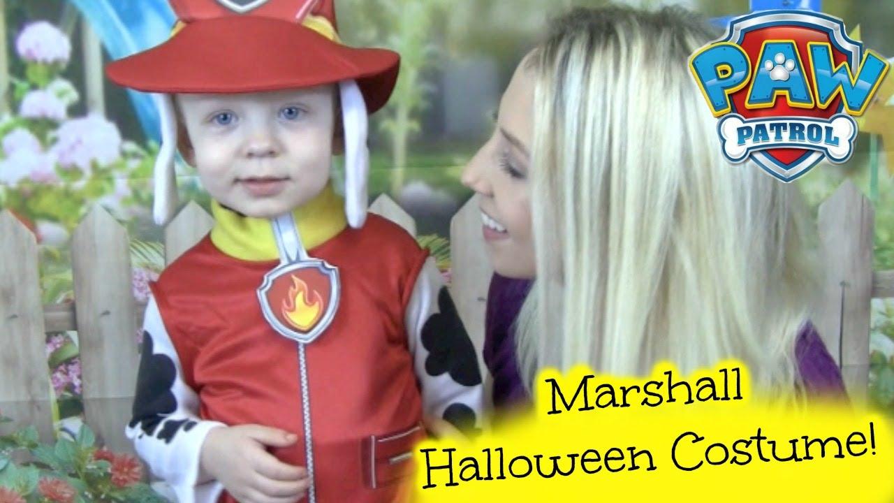 paw patrol marshall halloween costume kids video playtime with paw patroller and paw patrol
