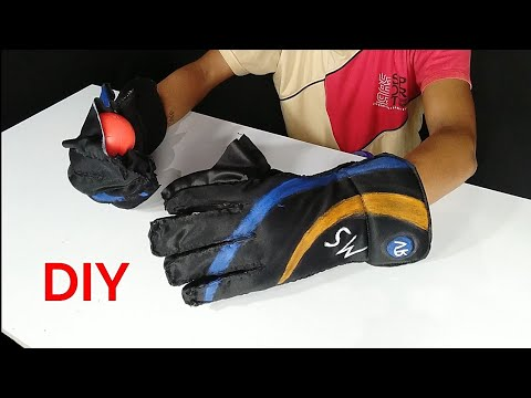 How To Make Cricket 🏏 Wicket Keeping Gloves At Home   Wicket Keeping Gloves  RV World