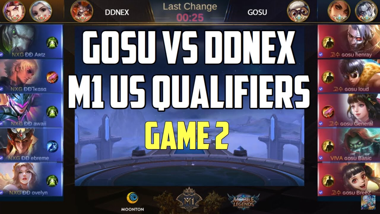 GOSU VS DDNEX - GAME 2 | MOBILE LEGENDS M1 US QUALIFIERS GRAND FINALS