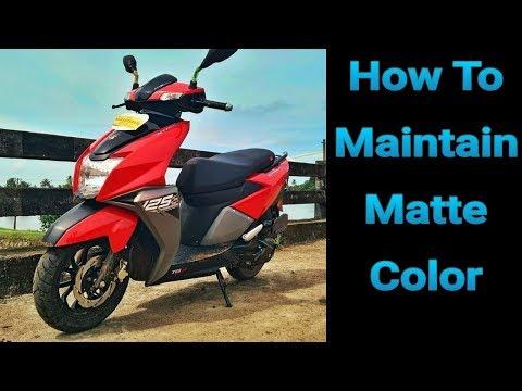 How to Maintain Matte Color   TVS Ntorq Matte Color Maintenance Tips