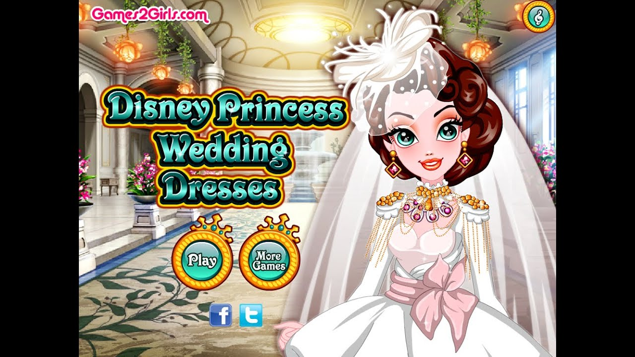 Disney Princess Wedding Day Dress Up Games : Disney princess wedding dresses fun dress up