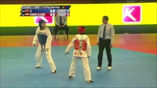 Female +67Kg SEMI FINAL  LI Donghua CHN v Rosana Simon ALAMO ESP