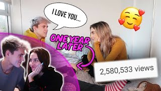 REACTING TO the day i told her i loved her ONE YEAR LATER!! *Emotional*
