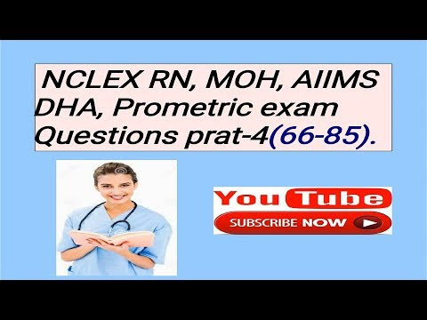 NCLEX, AIIMS,MOH ,DHA EXAM QUESTIONS PART-4 BY NURSES EXAM or Nursing Support news