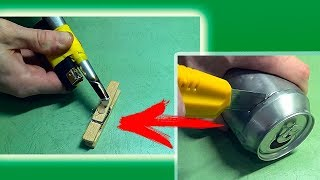 How to make glue gun with a cigarette lighter | The lighter can replace the glue gun! | DIY thumbnail