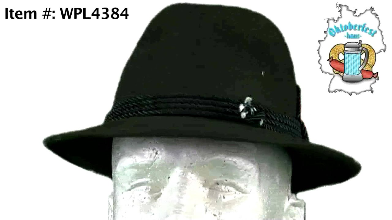 6928bf48401 Traditional Bavarian Wool Alpine Hat w  Feather - Hunter Green - YouTube