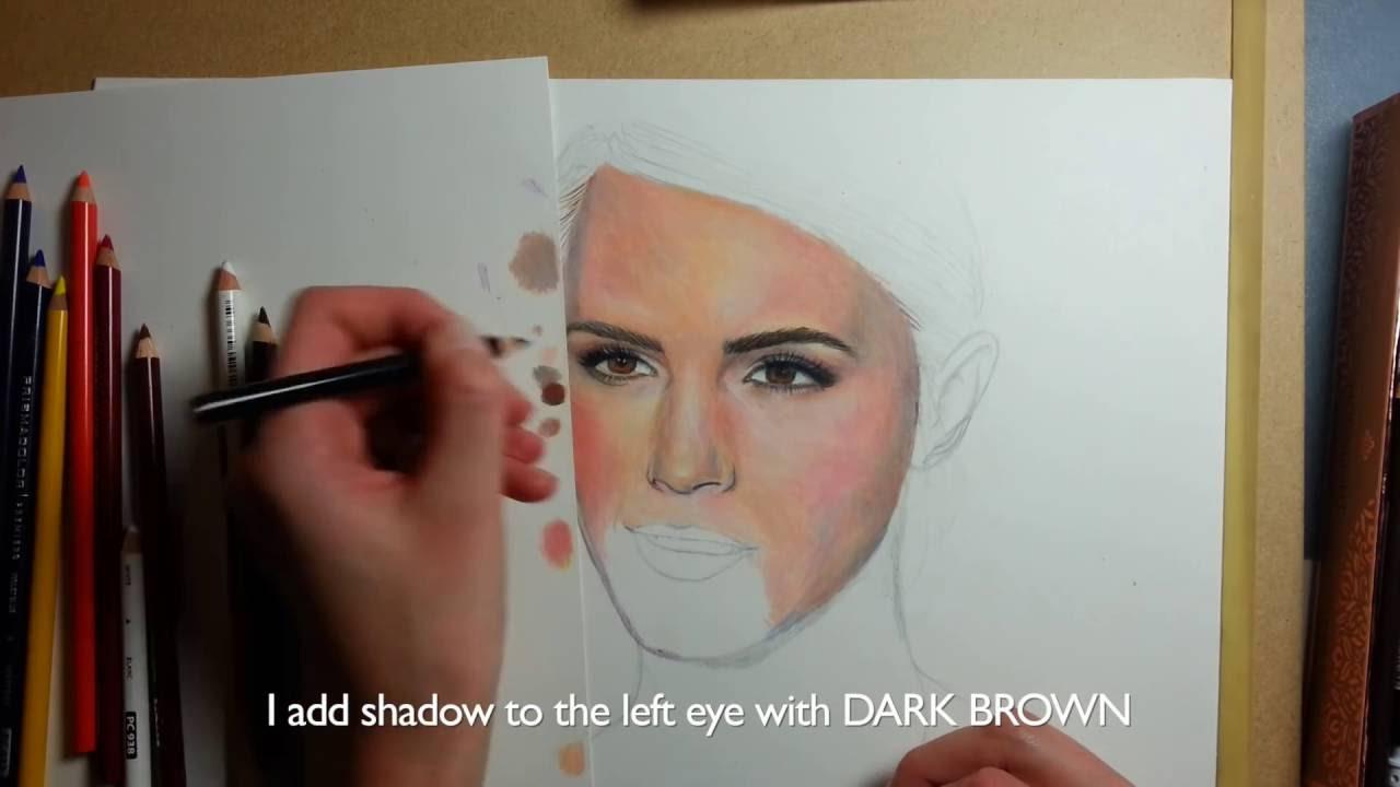 Portrait Set of 24 Prismacolor Colored Pencil