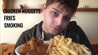Asmr Chicken Nuggets Fries Smoking