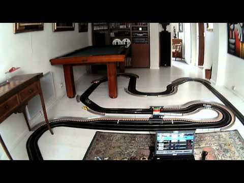 Circuit scalextric avec Pit Pro de luxe