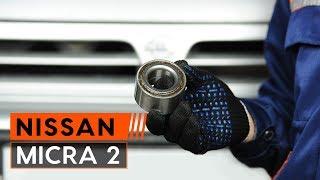 Montaje Cojinete de Rueda trasera izquierda derecha NISSAN MICRA II (K11): vídeo gratis