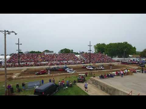 Demolition Derby midsize car class at the Dodge County Fair   Action Auto Promotions
