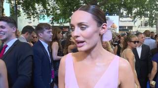 Transformers: The Last Knight - red carpet Laura Haddock (Official Video)