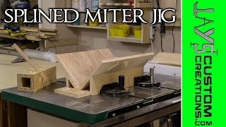 Splined Miter Jig For The Table Saw