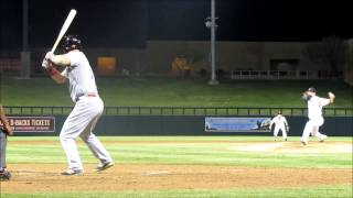 Jesse Winker base hit - Arizona Fall League 2014 - Cincinnati Reds OF prospect