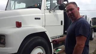 CHANGING BAD TIRE ON THE FREIGHTLINER & ADDRESSING YOU TUBE UNSUITABLE CONTENT! thumbnail