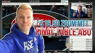 DAS IST MEIN TURNIER!!! | Final Table $16.50 Zoom | Stream Highlights