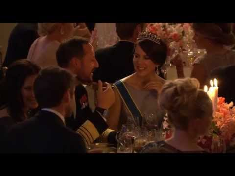 Mary and Frederik at Swedish Royal Wedding Dinner 2015