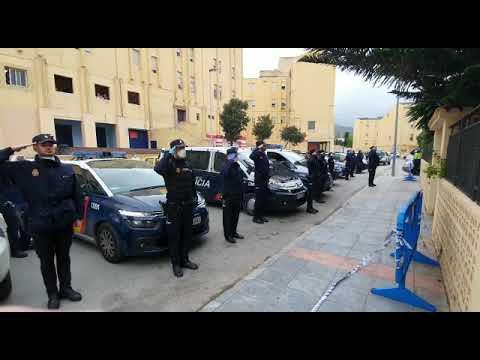 Homenaje de la Policía Nacional de Ceuta a los compañeros fallecidos por coronavirus